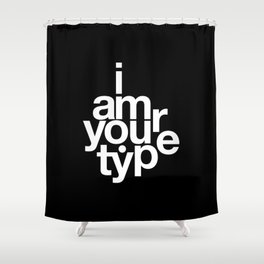 HELVETICA! Shower Curtain