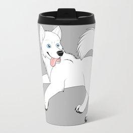 Husky (White) Travel Mug