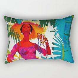 Vintage Caribbean Travel - Cuba Rectangular Pillow