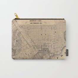 Old Map Of San Fransisco Carry-All Pouch