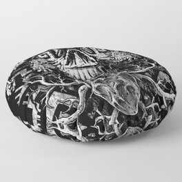 Aztec Skull Floor Pillow