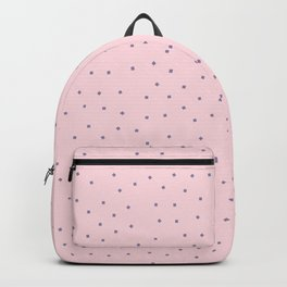 Simple Christmas seamless pattern Purple Confetti on Pastel Pink Background Backpack