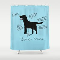 labrador Shower Curtains featuring Labrador Retriever by Lindsay Beth
