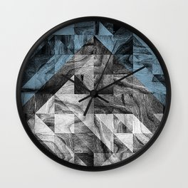 STONE STONE BLUE Wall Clock