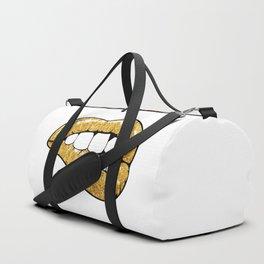 Golden lips Duffle Bag