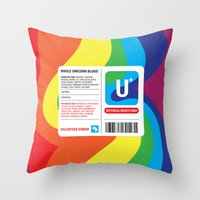 fairytale Throw Pillows featuring Fairytale Transfusion by Quick Brown Fox