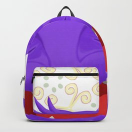 Anselmo the fat violet cat Backpack