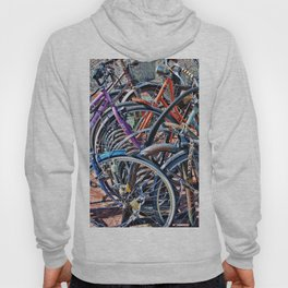 Lots of colorfull bycicles Hoody