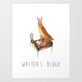 Writer's block Art Print