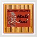 Tiki Art - Bali Hai on Bamboo by oldurbanfarmhouse