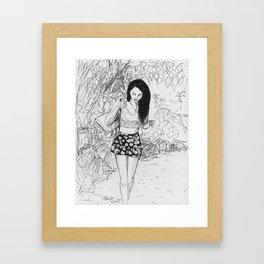 Picnic at the beach  Framed Art Print
