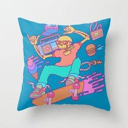 Skull Skater Throw Pillow