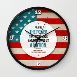 Preserved us a Nation Wall Clock