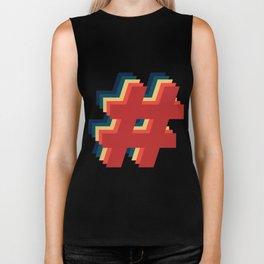 Hashtag Hashtag Hashtag - Colorway 2 Biker Tank
