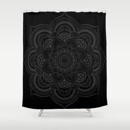 Black Mandala Shower Curtain