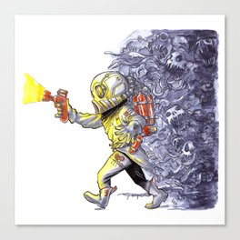 Candy-Trooper, Out of the Dark Canvas Print
