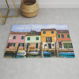 Houses - Boats - Street - Canal - Venice - Murano - Window. Little sweet moments. Rug
