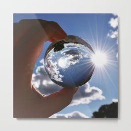 The World in Our Fingertips Metal Print