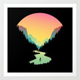 Great Paddle Boarding Adventure Art Print