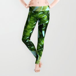 Watercolor tropical leaf XIII Leggings