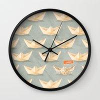 hello Wall Clocks featuring Hello! by Seaside Spirit