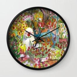 haunted florist shop Wall Clock