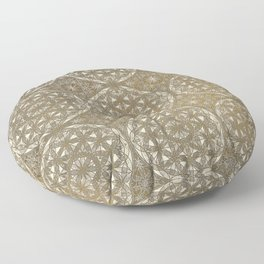 The Flower of Life Pattern Floor Pillow