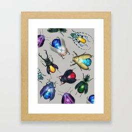 Colorful Mineral Beetles Framed Art Print