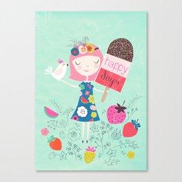 Happy Days - Ice cream Canvas Print