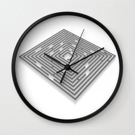 maze - labyrinth Wall Clock