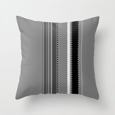 Gray Stripes Abstract Throw Pillow