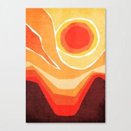 Modern Mid-Century Desert Sunset Canvas Print