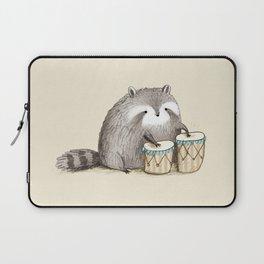 Raccoon on Bongos Laptop Sleeve
