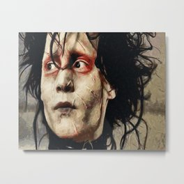Johnny Depp Edward Scissorhands Metal Print