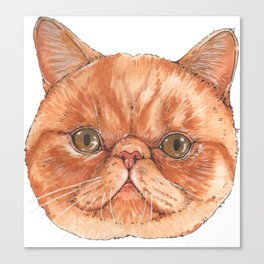 Betty aka The Snappy Cat- artist Ellie Hoult Canvas Print