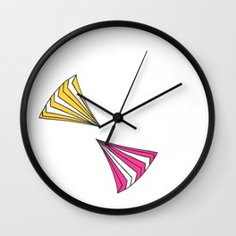 Wafers - Yellow & Pink Wall Clock