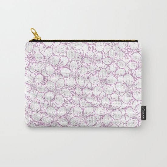 Cherry Blossom Pink Outline - In Memory of Mackenzie Carry-All Pouch