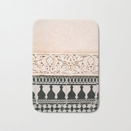 Graphic tile pattern | Moroccan Arabic tiles in earth tones. | Pastel film marrakech photography Bath Mat