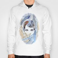 60s Hoodies featuring '60s Eyes Collage with White Background by Katy Rose