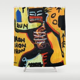 Homage to Basquit New York King Shower Curtain