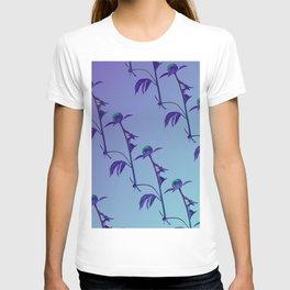 Rose Calm Ocean View gradient color T-shirt