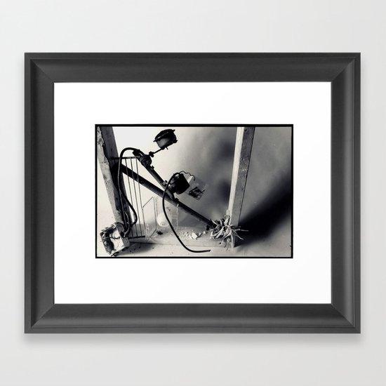 found objects sculpture Framed Art Print