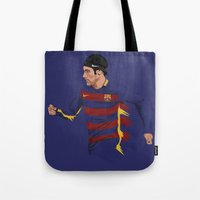neymar Tote Bags featuring Neymar  by siddick49