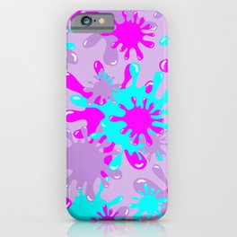 Slime in Lavender, Pink & Blue iPhone Case