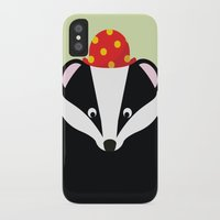 badger iPhone & iPod Cases featuring Badger by onelittledickybird