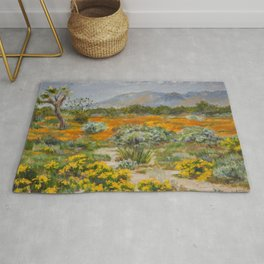 California Poppies and Wildflowers Rug