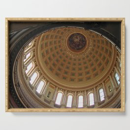 The rotunda of the Capitol building in Madison, Wisconsin Serving Tray