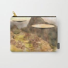UFO over Machu Picchu Carry-All Pouch
