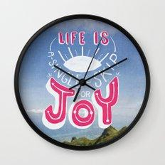 Life is A Single Skip for Joy Wall Clock