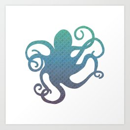 The Blue Octopus Art Print
